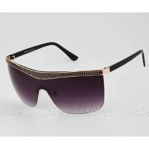 Eye Candy Eyewear   Black/Gold Frame Sunglasses with Smoke