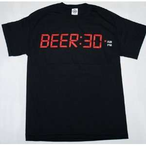 BEER30 Beer Drinking Time Funny Joke Tee Shirt T Shirt L