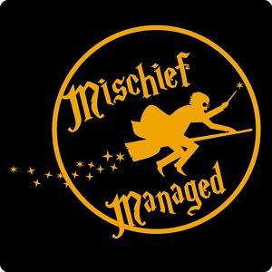 Mischief ManagedHarry Potter T Shirt BLACK LOGO NEW