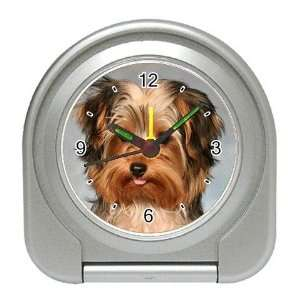 Yorkshire Terrier Puppy Dog 10 Travel Alarm Clock JJ0656