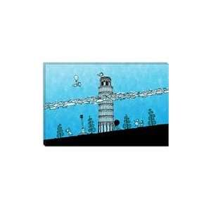 Leaning Tower of Pisa Cartoon Children Art Canvas Giclee