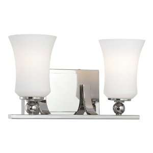 13ö Polished Nickel Wall Sconce with Etched Opal Glass Shade 6622 613