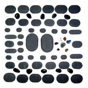 Basalt Lava Hot Stone Massage, 60 Piece Kit