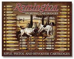 Tin Metal Sign   Remington Bullet Board Hunting Rifle Cartridges #1679