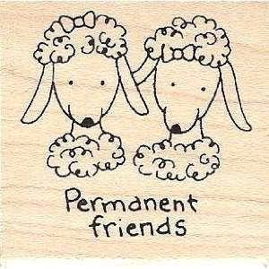 Sheep Permanent Friends Rubber Stamp
