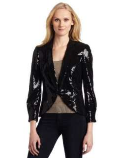 AK Anne Klein Womens Sequin Blazer Clothing