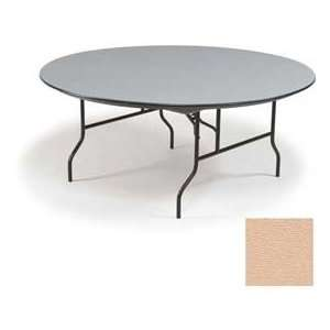 Midwest   Hexalite® Abs Round Folding Table, 60 Diameter