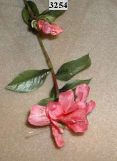Pink Silk Azalea Flowers Long Stem 30 3254