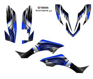 YAMAHA Wolverine 450 ATV Graphic Decal Sticker Kit #7777 BLUE