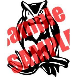 OWL BIRD ANIMAL WHITE VINYL DECAL STICKER
