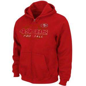 San Francisco 49ers Red Touchback IV Full Zip Mens Hoodie Sweatshirt
