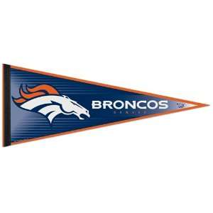 DENVER BRONCOS OFFICIAL LOGO PENNANT BUTTON BUMPER STICKER SET