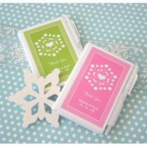 Snowy Notes Winter Wedding Personalized Notebook Favors