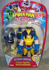 NEW~SPIDER MAN & FRIENDS~CRIME FIGHTER WOLVERINE~