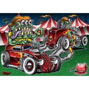 Circus Freaks ~ Wooden Jigsaw Puzzle Toys & Games