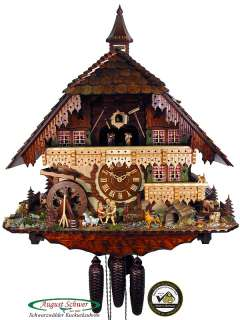 Black Forest Cuckoo Clock 8 Day Gutach Valley Mill NEW