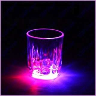 Water Activated Color Change Flash Light LED Whisky Shot Glass Cup For