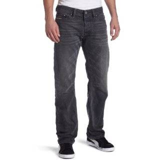 New Diesel Mens Viker Black Boot Cut Jeans Pants, Wash
