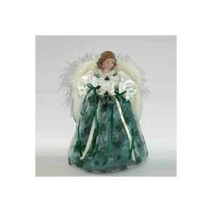 9 Lighted Kelly Green Irish Angel Christmas Tree Topper