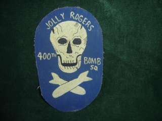 WWII USAAF 400 BOMB SQ 90TH BOMB GRP JOLLY ROGERS PATCH