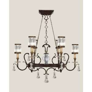 583840ST Eaton Place 6 Light Pendant in Rustic Iron