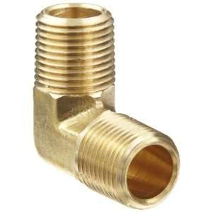 Anderson Metals Brass Pipe Fitting, 90 Degree Forged Elbow, 1/2 x 1/2