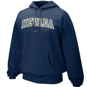 Nike Nevada Wolf Pack Navy Blue Arched Lettering Hoody Sweatshirt