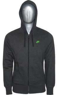 NEW NIKE Full Zip tracksuit FLEECE Jog Jogging Charcoal green Size S M