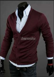 Fashion Mens Slim Premium Stylish Trapdoor Knit Coat Cardigan 5Color