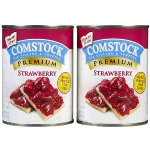 Comstock Strawberry Pie Filling/Topping Grocery & Gourmet Food