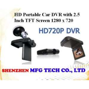 new 2.5 inch tft lcd screen hd720p vehicle camera car