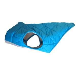Quilted Puffer Dog Coat Small Aqua, Fits Dogs 9 14 lbs