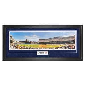 New York Yankees   The Stadium   Panoramic with Suede Matte by Mounted