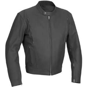 RIVER ROAD ALLOY LEATHER JACKET (MATTE BLACK) Automotive