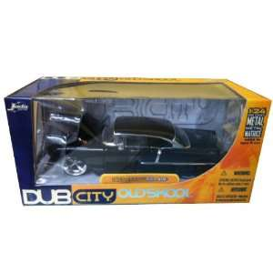 124 1955 Chevy Bel Air Black Dub City OldSkool Toys