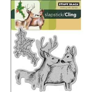 Penny Black Cling Rubber Stamp, Forest Friends Everything