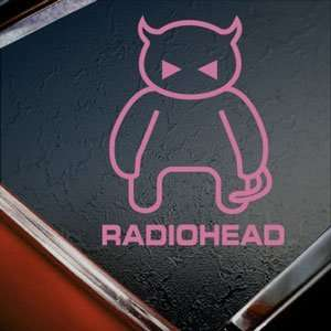 Radiohead Rock Band Devil Logo Pink Decal Window Pink