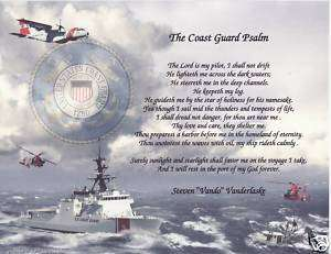 Coast Guard Psalm Poem Personalized Print Name Prayer