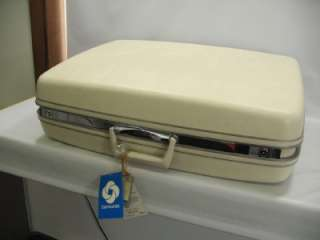 vtg NOS Samsonite Silhouette 26 Pullman Suitcase Dover White Hard Side
