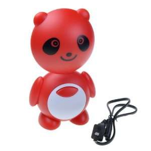 Cute Lovely *Red Bear* Shape 10 LED Desk Reading Charge Light Lamp