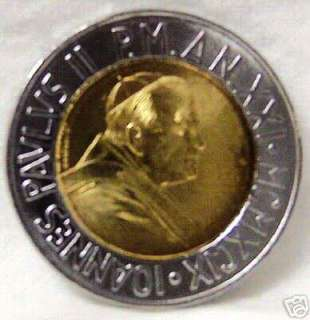 POPE JOHN PAUL II / CHOICES IN LIFE VATICAN 1999 COIN