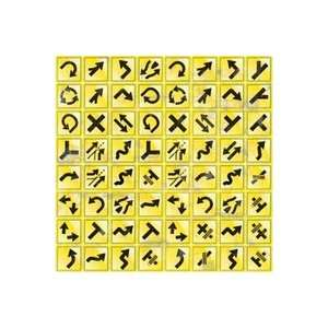 Reminisce Road Signs Die cut Stickers 12x12 Sheet yellow