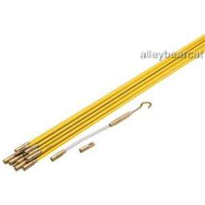 33 Fiberglass Wire & Cable Running Push Pull Rod&Case