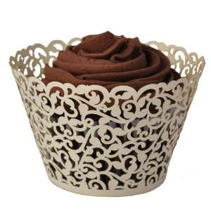 Ivory Ivy Vine Cupcake Wrapper (Set of 50) Kitchen