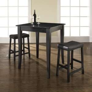 Crosley Furniture KD320004BK   3 Piece Pub Dining Set with Cabriole