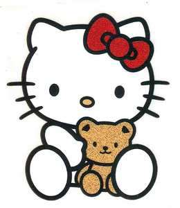 Hello Kitty red bow teddy bear Tshirt Iron On Transfer
