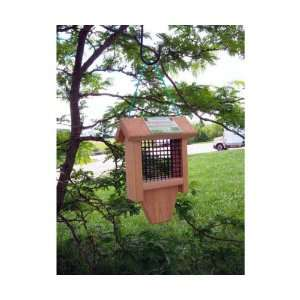 Tail Prop Suet Bird Feeder   Attract Larger Woodpeckers, Green Plastic