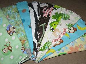 Handmade Hour Glass Shaped Burp Cloths, gender neutral