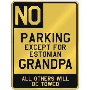 FOR ESTONIAN GRANDPA  PARKING SIGN COUNTRY ESTONIA