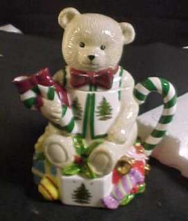 Spode Christmas Tree Teddy Bear Tea Pot MIB